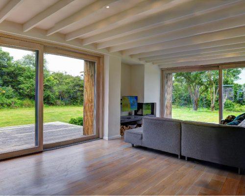 Timber Sliding Doors Production Best Quality FSC Factory Oak Larch Pine