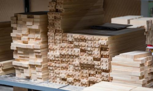 Wooden parts for furniture production Lithuania Export FSC beech, oak, birch, ash FSC