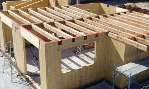 Construction CLT House Lithuania Production Baltic States Wood Timber Lithuania