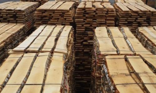 Unedged lumber birch lithuania